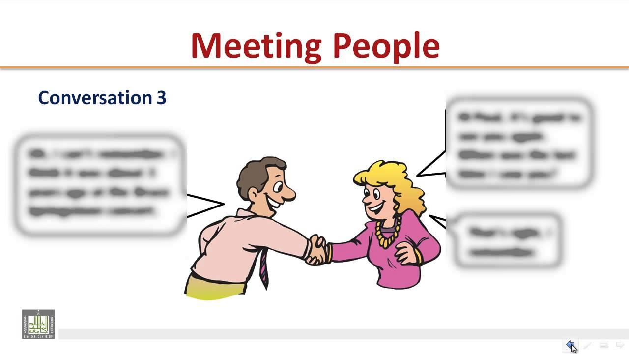 диалог знакомство на английском для студентов