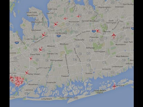 FAA's NextGen over Nassau and Queens County LIVE Stream - PlaneSense4LI
