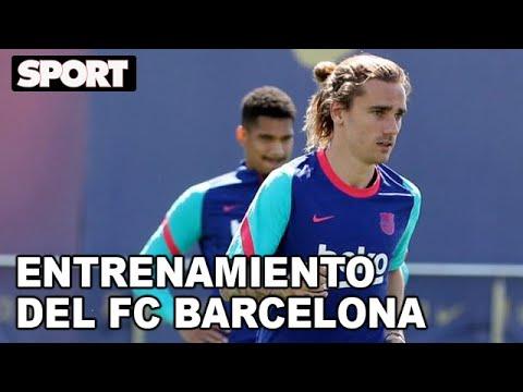 EL ENTRENAMIENTO DEL FC BARCELONA para PREPARAR EL PARTIDO de LIGA ante el ATLÉTICO DE MADRID🏋
