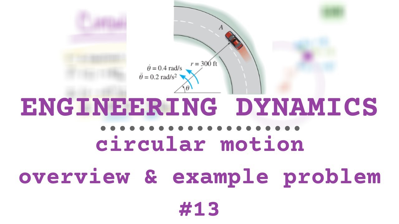 CIRCULAR MOTION OVERVIEW & EXAMPLE | Engineering Dynamics ...