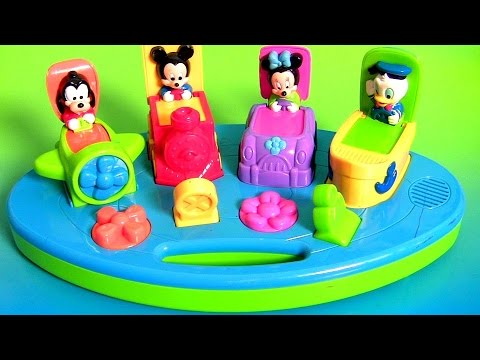 Learn Colors Disney Baby Pop Up Surprise Cars Planes Trains Mickey Mouse Clubhouse Goofy Donald Duck