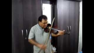 Yeh raaten, yeh mausam, nadee ka kinara,violin by Surinder Sabharwal