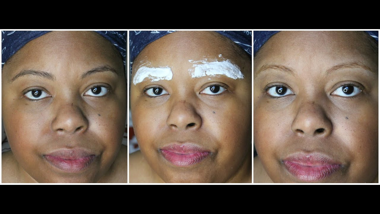Jolen Bleached Brows Demo Before After Youtube