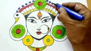 how to draw navratri special devi