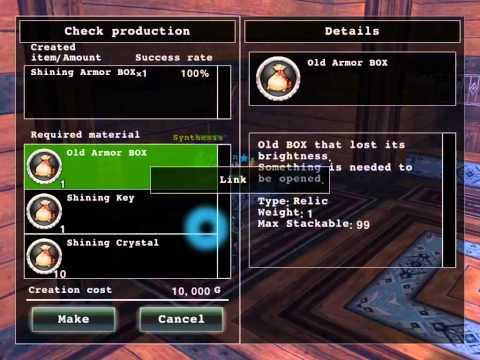 [RPG AVABEL ONLINE] Making/opening Shining Armor Box