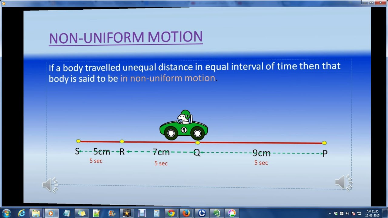 how to know if a graph has uniform motion