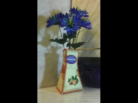 Делаю вазу из картона.