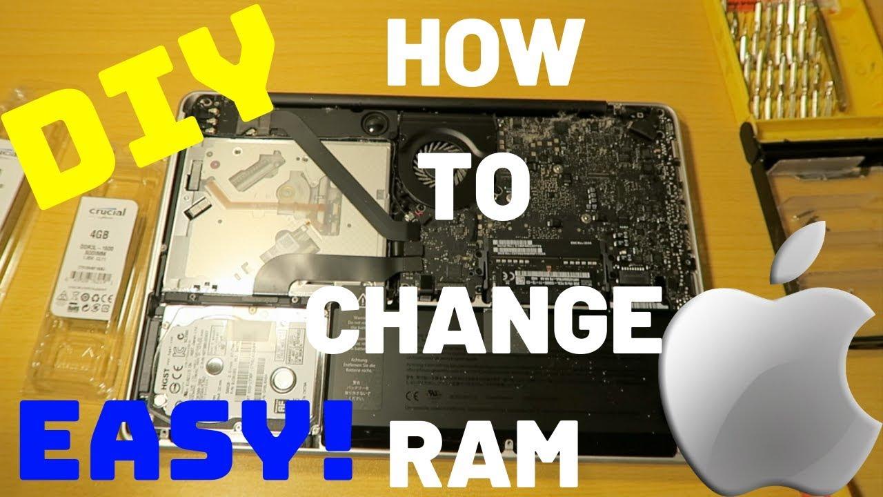 DIY: How to change RAM in MacBook Pro EASY! | Oct 2018
