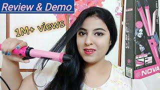 Nova 2 in 1 Hair Straightener & Curler Review & Curling Demo