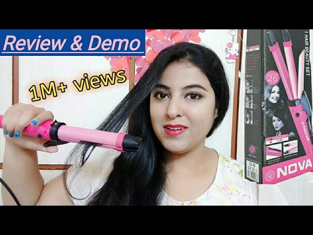 Nova 2 In 1 Hair Straightener Curler Review Curling Demo Youtube