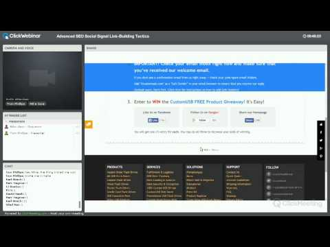 Advanced SEO Social Signal Link Building Webinar Replay