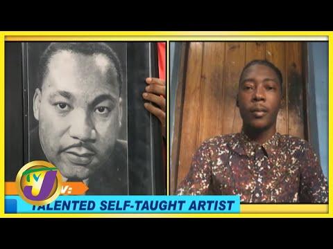 Kadeen Christie - Talented Self Taught Artist   Smile Jamaica, TVJ