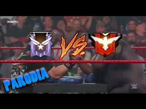 UN HEROICO VS UN PLATINO AGRESIVO//PARODIA WWE//FREEFIRE RANDOM