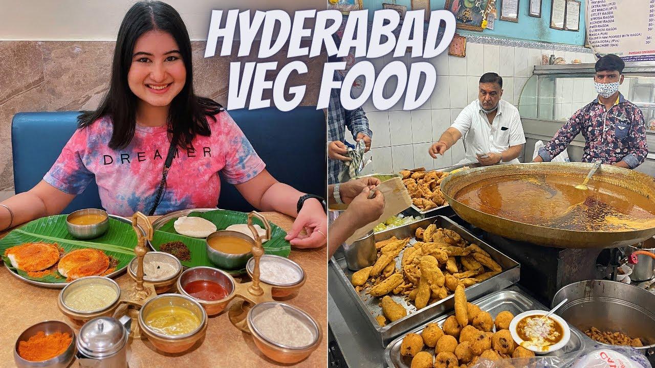Hyderabad Food (Part 2) | Best Veg Food | Chutneys, Gokul Chat, Cafe Bahar & More