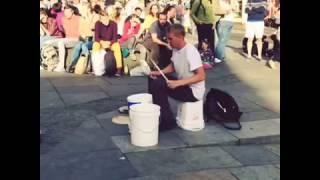 Edinburgh Festival Fringe Street Performer #Thebucketboy. 2015