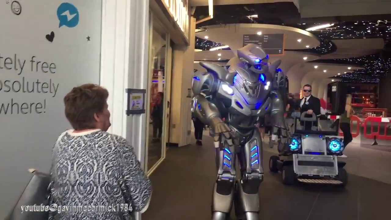 Titan the real life size robot | picks a fight with a lady