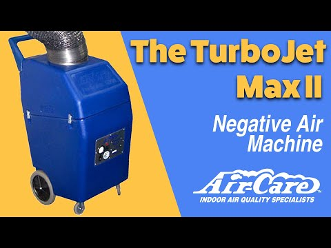 TurboJet Max II Negative Air Machine From Air-Care