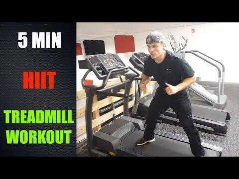 Intense 5 Minute HIIT Treadmill Workout