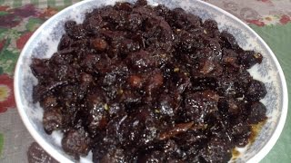 শুকনো বরই এর টক মিষ্টি  আচার/Sweet And sour Boroi pickel.
