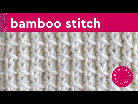 Bamboo Knit Stitch Pattern