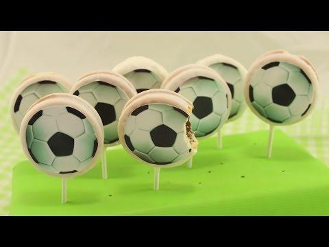 Fußball Cookie Pops