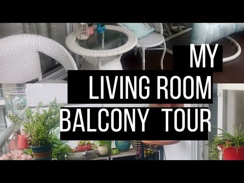 MY LIVING ROOM BALCONY TOUR | INDIAN BALCONY TOUR | #homedecor #balconydecor