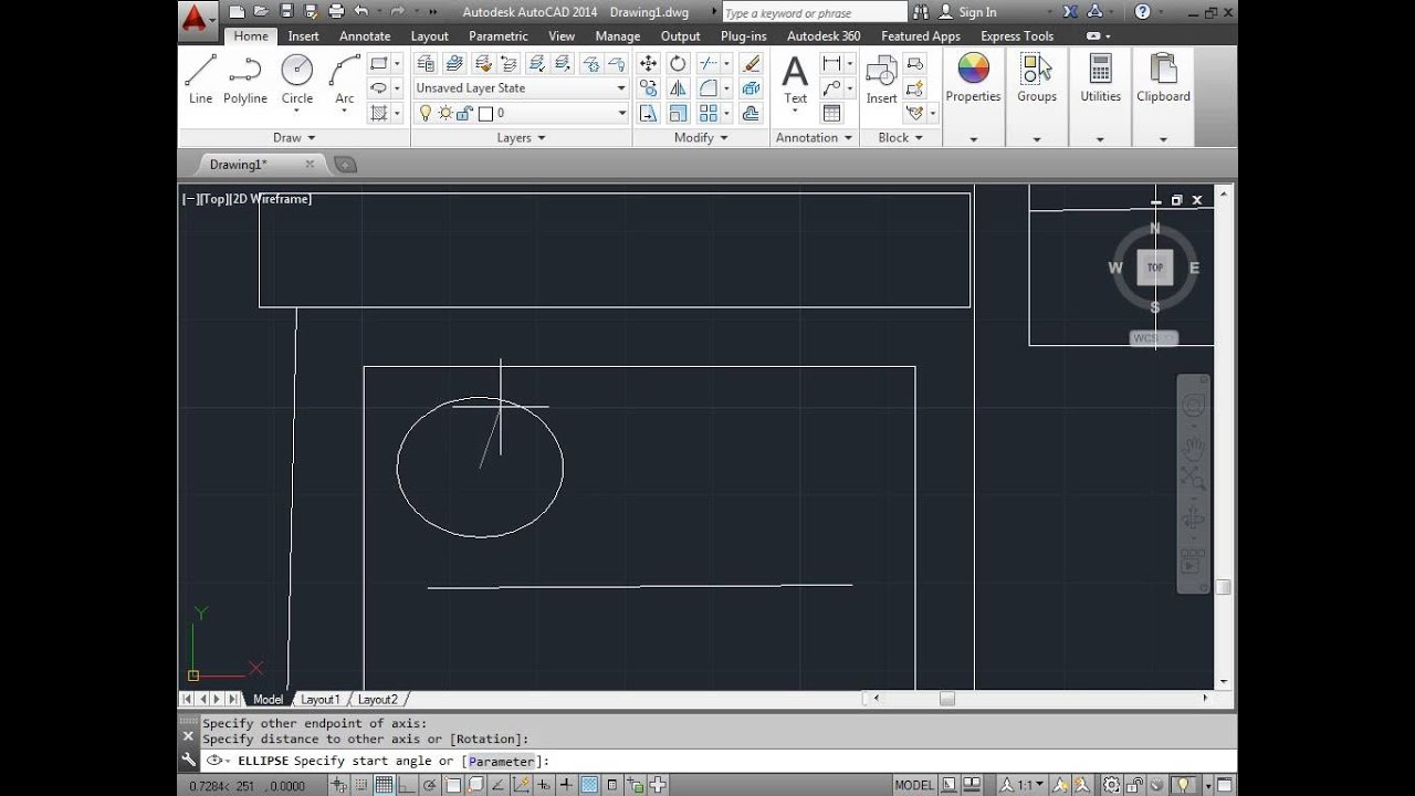 C00309 Simple Drawing Project AutoCAD 2014 Tutorial YouTube