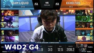 Team Liquid vs Echo Fox | Week 4 Day 2 of S8 NA LCS Spring 2018 | TL vs FOX W4D2 G4