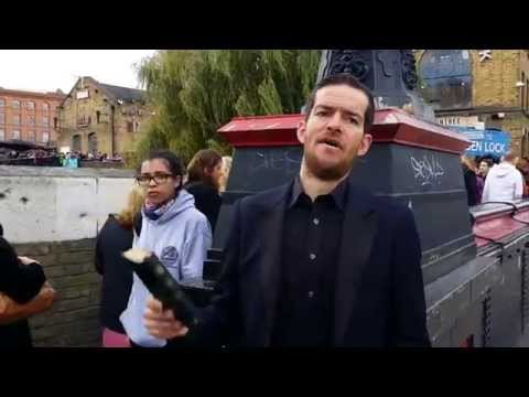 Homeless Preacher Preaching Fire In Camden Lock London 2015. (2)