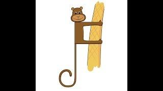Рисуем с детьми и изучаем алфавит, Как рисовать обезьяну/ How to draw