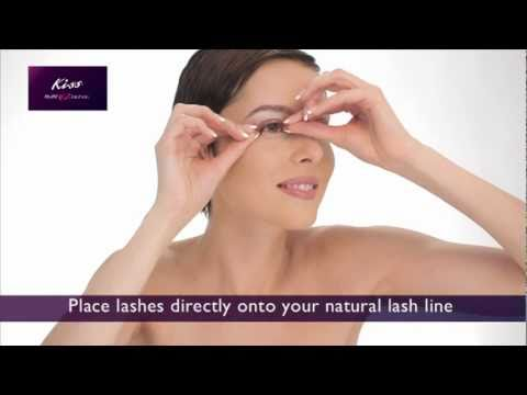 1c289b52059 How to apply Kiss EverEZLashes - YouTube