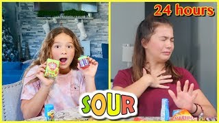 EATING ONLY SOUR FOOD FOR 24 HOURS | SISTER FOREVER