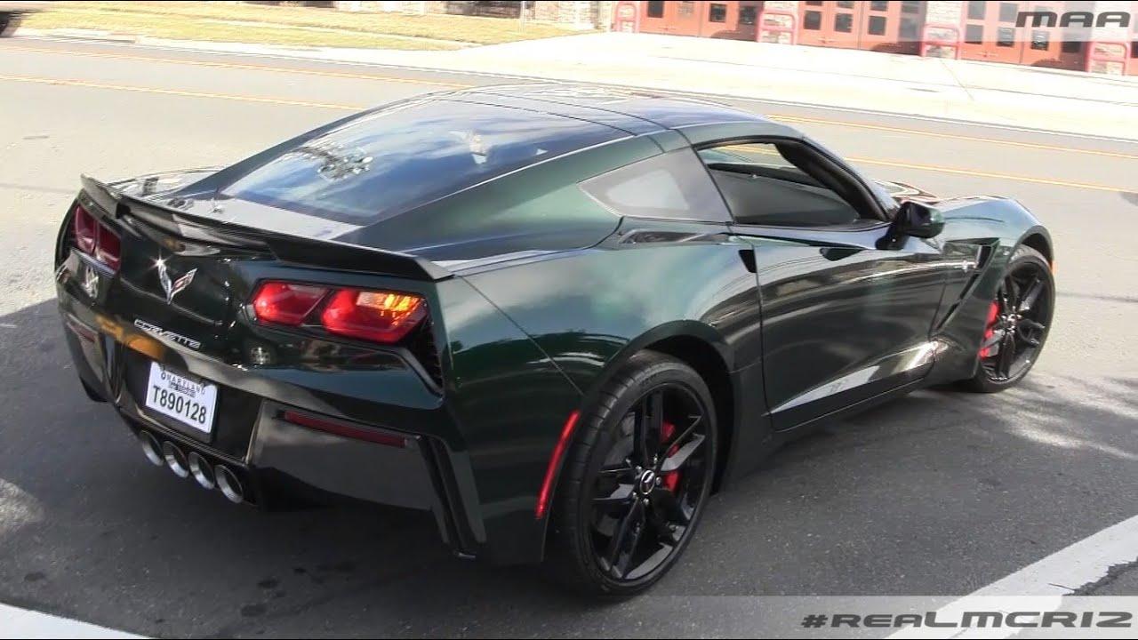 Lime Rock Green 2014 Chevy Corvette C7 Stingray - YouTube