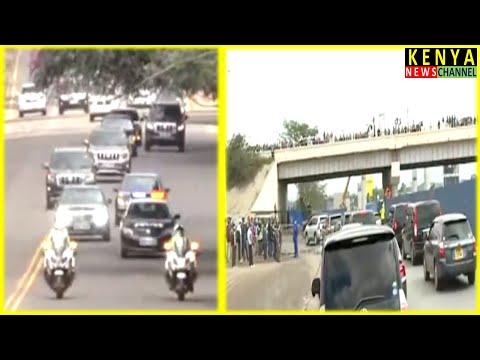 How President Samia motorcade ruled Nairobi streets - Kenyans impressed