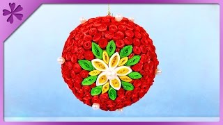 DIY Quilling Christmas ball (ENG Subtitles) - Speed up #281