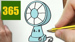 HOW TO DRAW A FAN CUTE, Easy step by step drawing lessons for kids