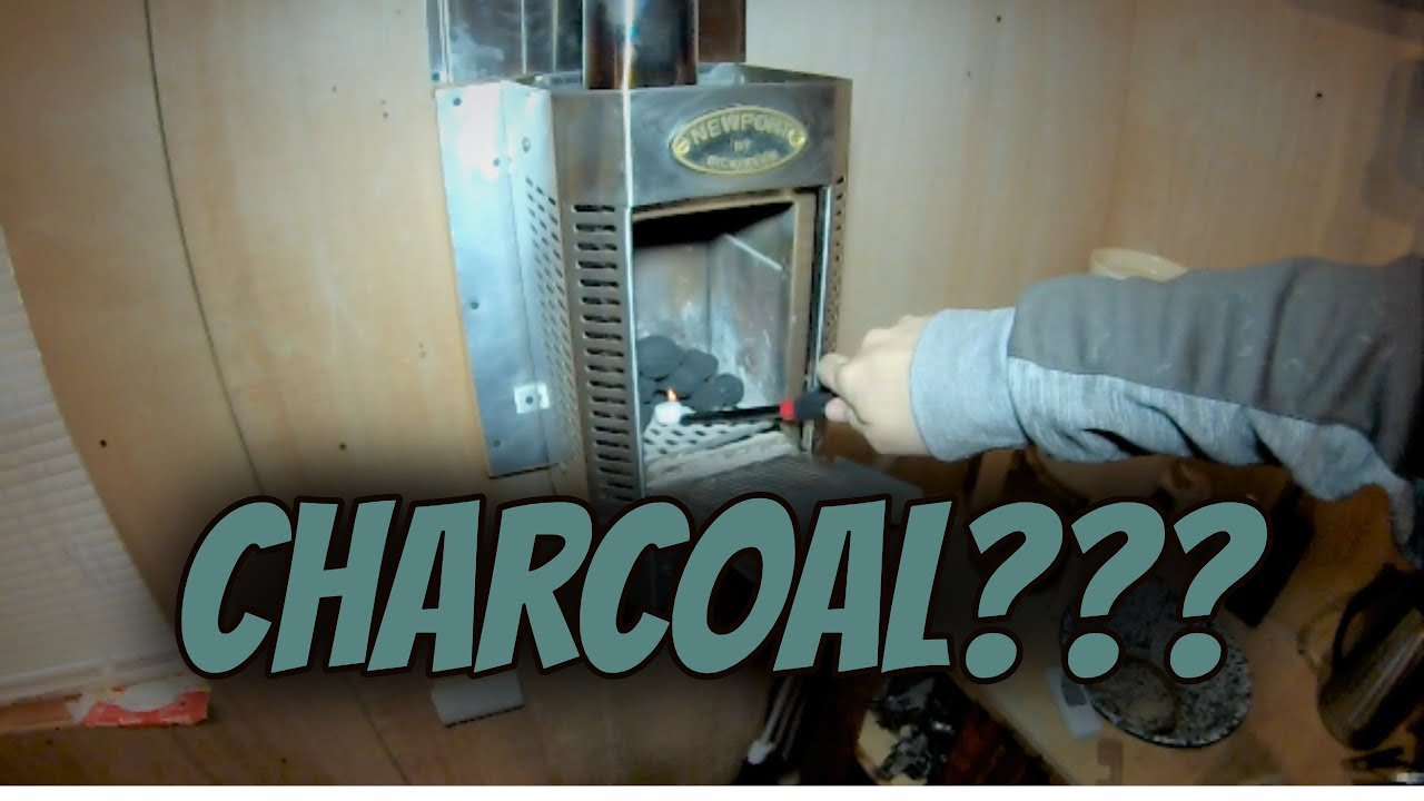 Charcoal In The Inson Heater Fall At Tiny House