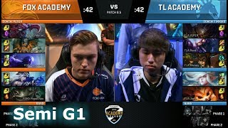 Video Echo Fox Academy vs Liquid Academy   Game 1 Semi Finals NA Academy League Spring 2018   FOXA vs TLA download MP3, 3GP, MP4, WEBM, AVI, FLV Juni 2018