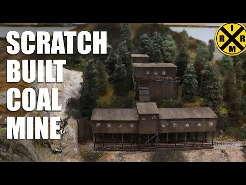 094: My N Scale Coal Mine Scratch Build!