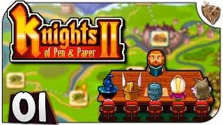 """Knights of Pen and Paper 2 #01 """"O início da aventura!"""" - Gameplay Português PT-BR"""