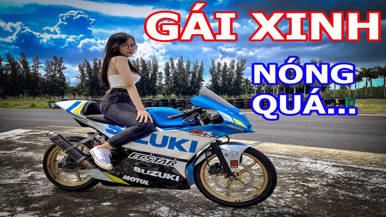 Hot girl cùng chiếc GSX moto 3 của Phương Xàm cực ngầu