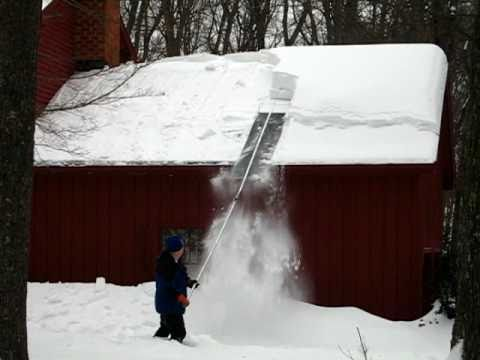 Clearing Snow From The Roof Youtube