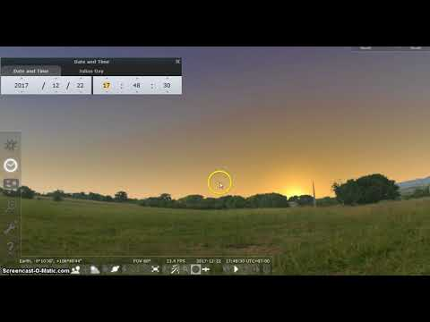 Stellarium – Learning how to determine the Cardinal Points (directions) at day and at night