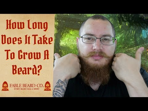 How long does it take to grow a beard? Do you have what it takes?