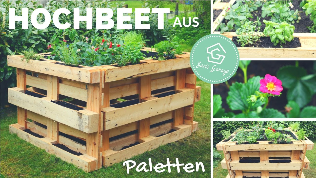 hochbeet aus europaletten selber bauen bauanleitung beet aus paletten palettenm bel youtube. Black Bedroom Furniture Sets. Home Design Ideas