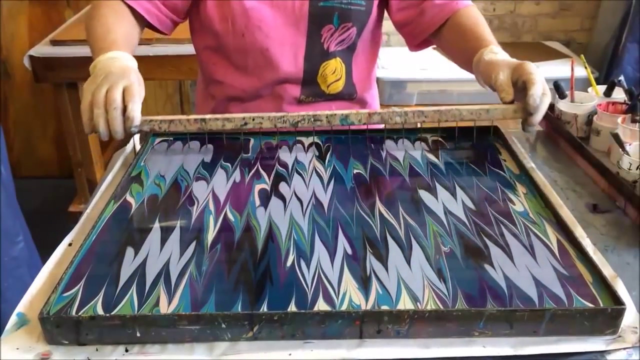 Diy Paper Marbling Instructions Youtube