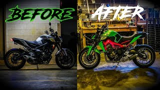 homepage tile video photo for I wrapped the FZ09 myself...