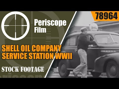 "SHELL OIL COMPANY SERVICE STATION WWII  ""GROUND CREW SERVICE"" PROMO FILM 78964"