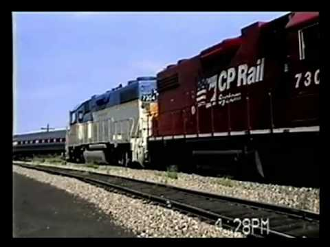 Video 81995, Albany to Montreal, CP D&H, 13 14 Aug 1995