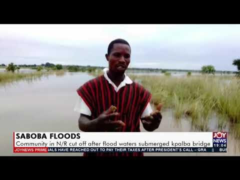 Community in N/R cut off after floods waters submerged Kpalba bridge - Joy News Prime (17-9-21)